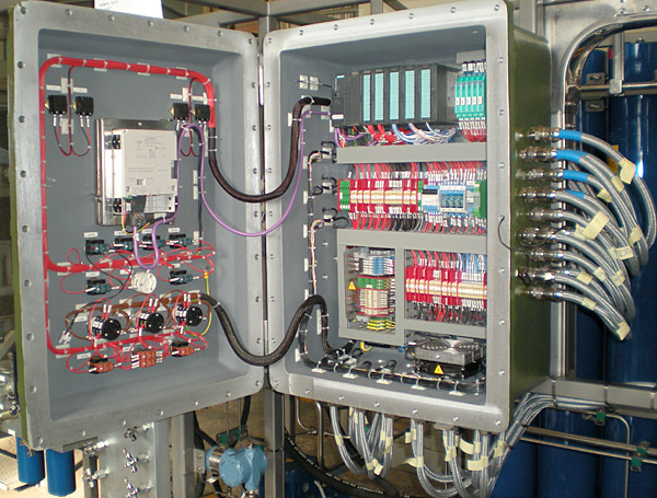 Local flame-proof (Ex'd) control panel