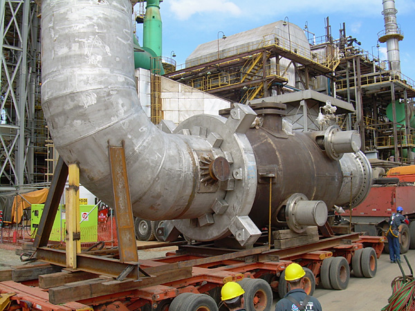 Isolation valve ready to be lifted in place