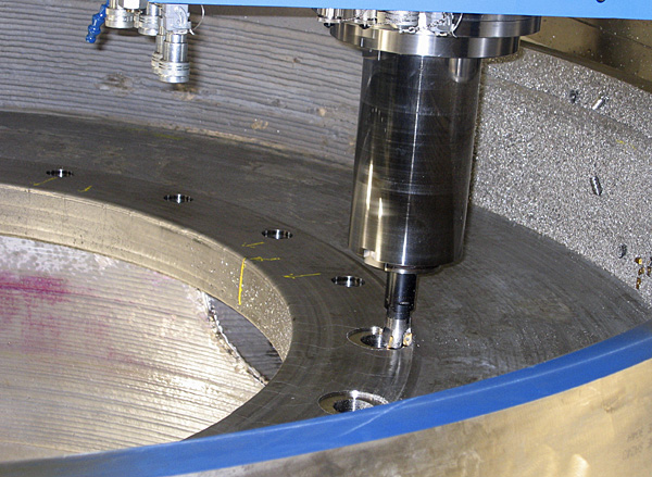 Slide valve, orifice plate support machining