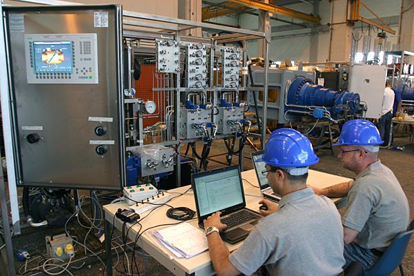 Hydraulic power control unit testing