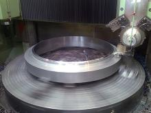 Butterfly valve, flange machining
