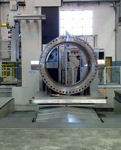 76 inch butterfly valve body, seat machining