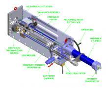 Linear actuator, 3D model