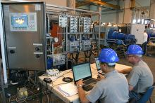 Hydraulic power control unit testing